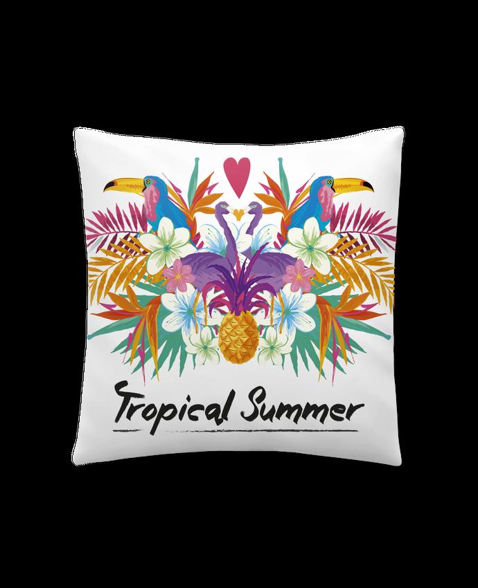 Coussin Synthétique Doux 41 x 41 cm Tropical Summer par IDÉ'IN