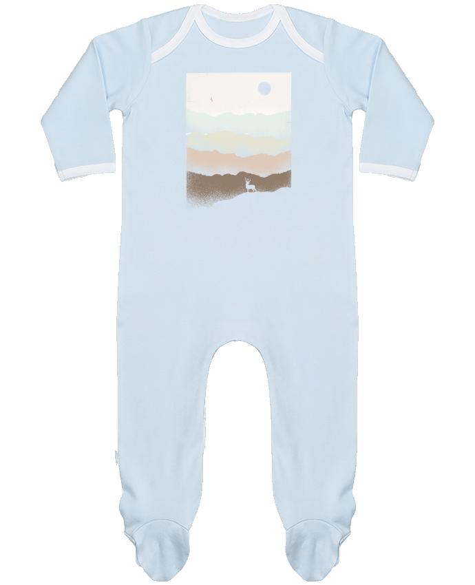 Pyjama Bébé Manches Longues Contrasté Quietude par Florent Bodart