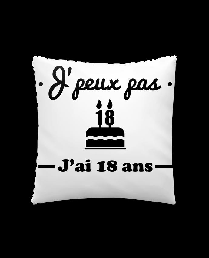 Coussin Synthétique Doux 41 x 41 cm J'peux pas j'ai 18 ans, cadeau d'anniversaire par Benichan