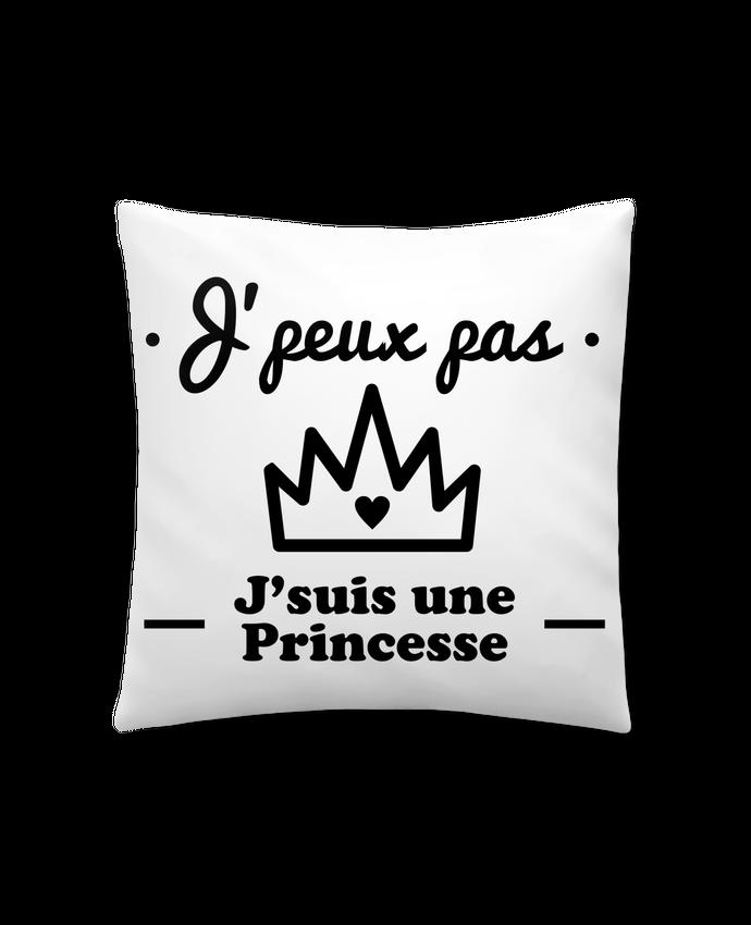 Coussin Synthétique Doux 41 x 41 cm J'peux pas j'suis une princesse, humour, citations, drôle par Benichan