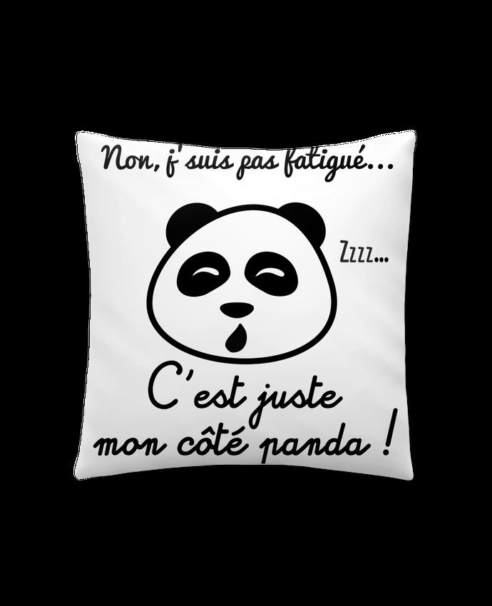 Coussin Synthétique Doux 41 x 41 cm Non j'suis pas fatigué c'est mon côté panda par Benichan