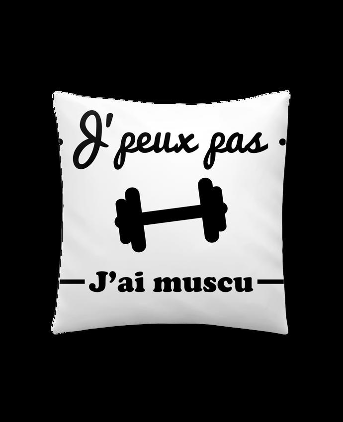 Coussin Synthétique Doux 41 x 41 cm J'peux pas j'ai muscu, musculation par Benichan