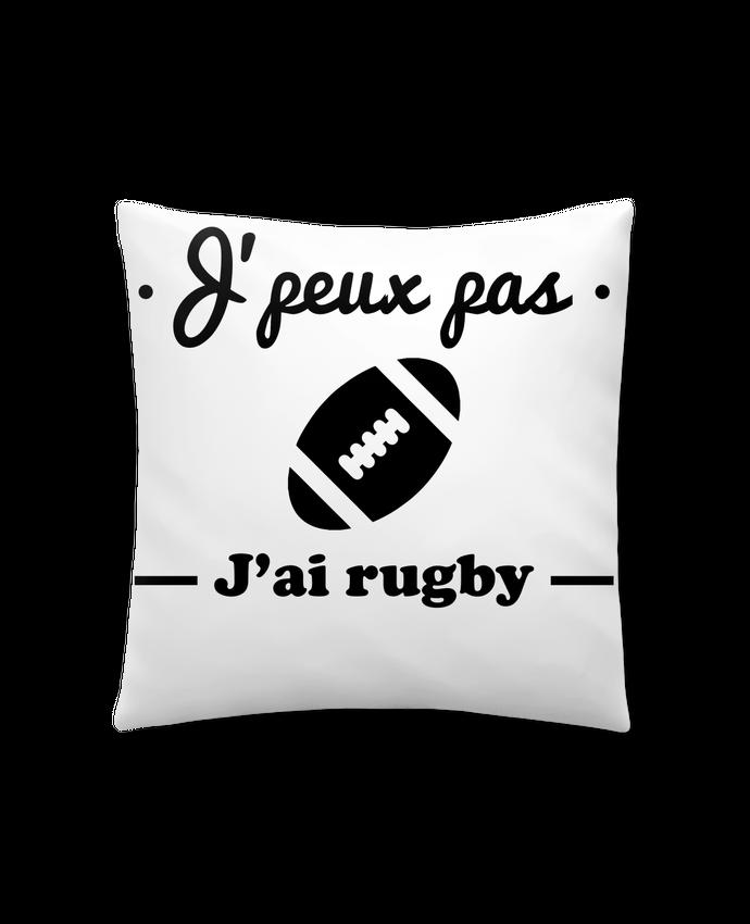 Coussin Synthétique Doux 41 x 41 cm J'peux pas j'ai rugby par Benichan