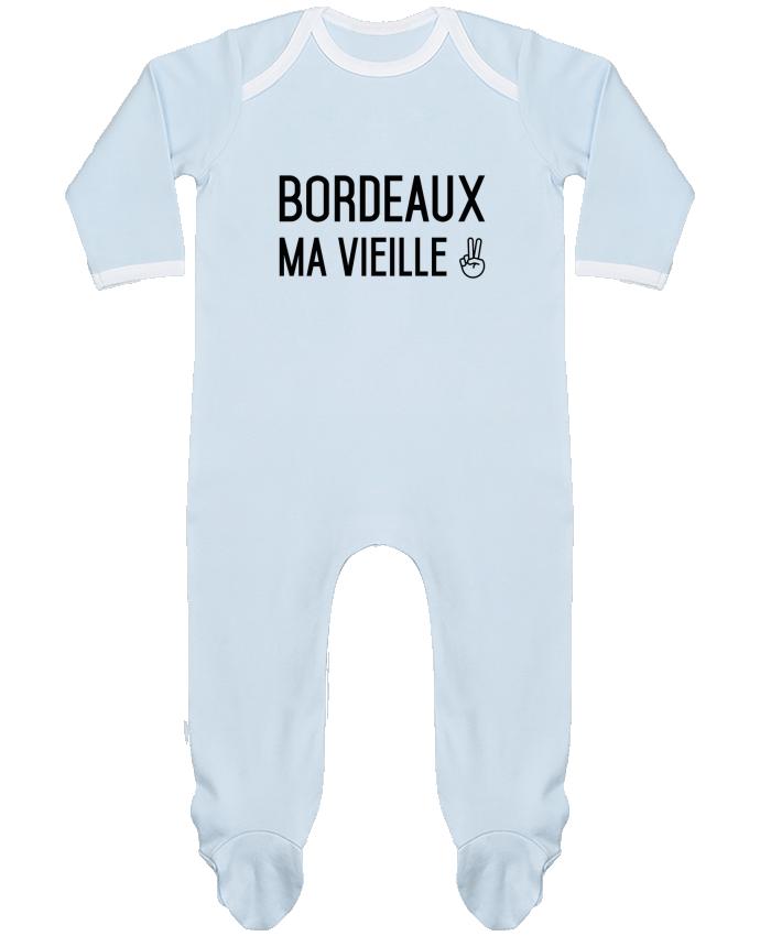 Pyjama Bébé Manches Longues Contrasté Bordeaux ma vieille par tunetoo