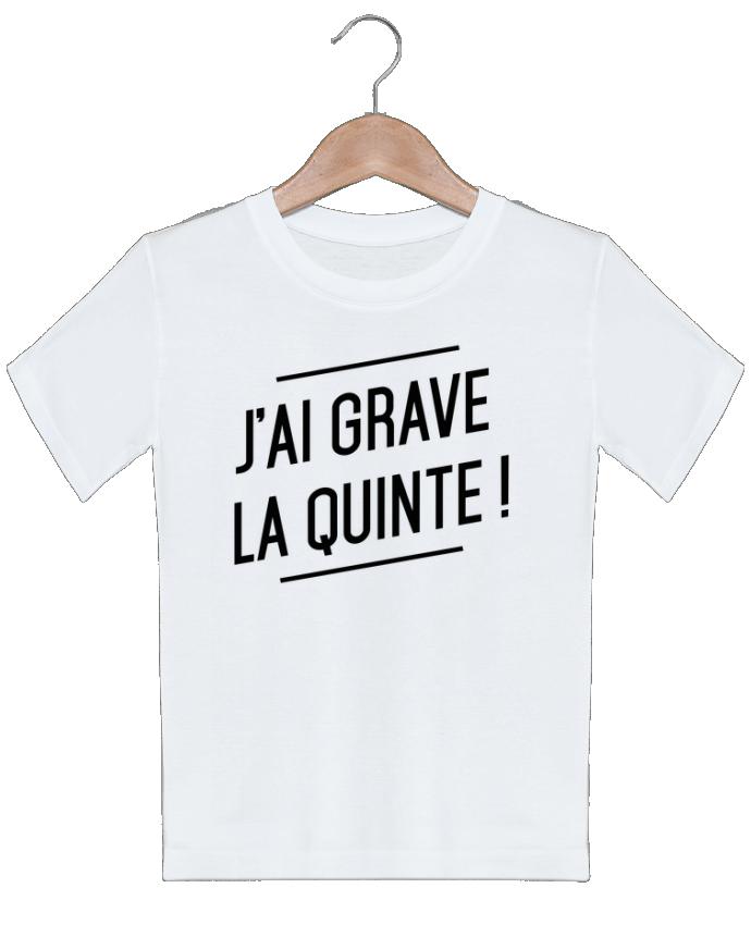 T-shirt garçon motif La quinte ! tunetoo