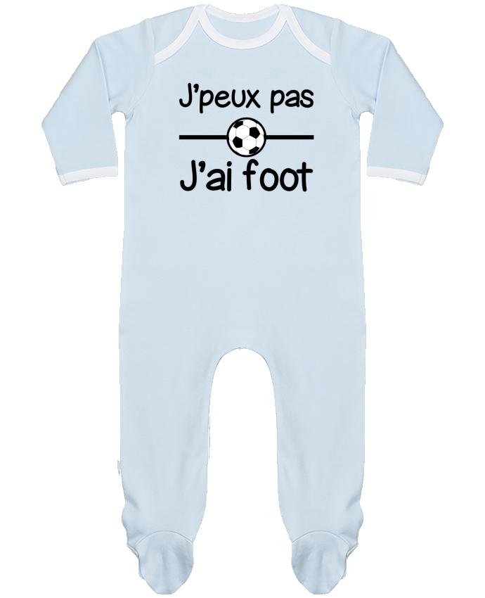 Pyjama Bébé Manches Longues Contrasté J'peux pas j'ai foot , football par Benichan
