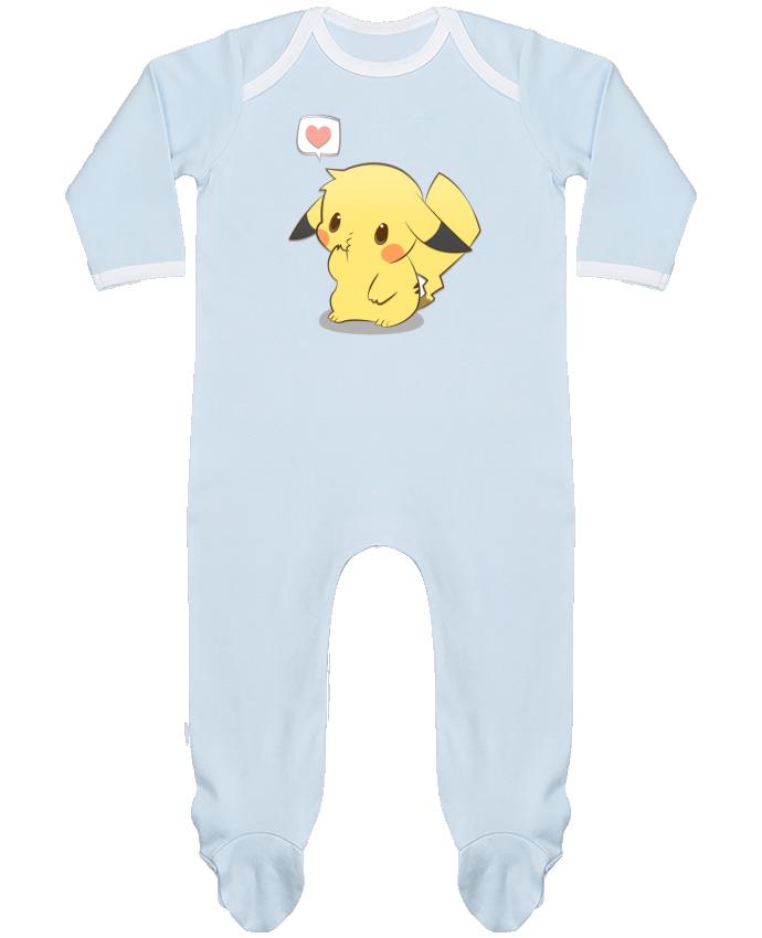 Pyjama Bébé Manches Longues Contrasté Pikachu Love par Ketsøu