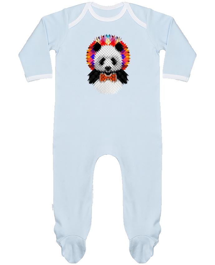 Pyjama Bébé Manches Longues Contrasté Panda par ali_gulec