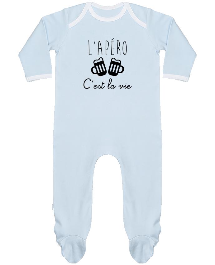 Body Pyjama Bébé L'apéro c'est la vie , humour , alcool , drôle par Benichan