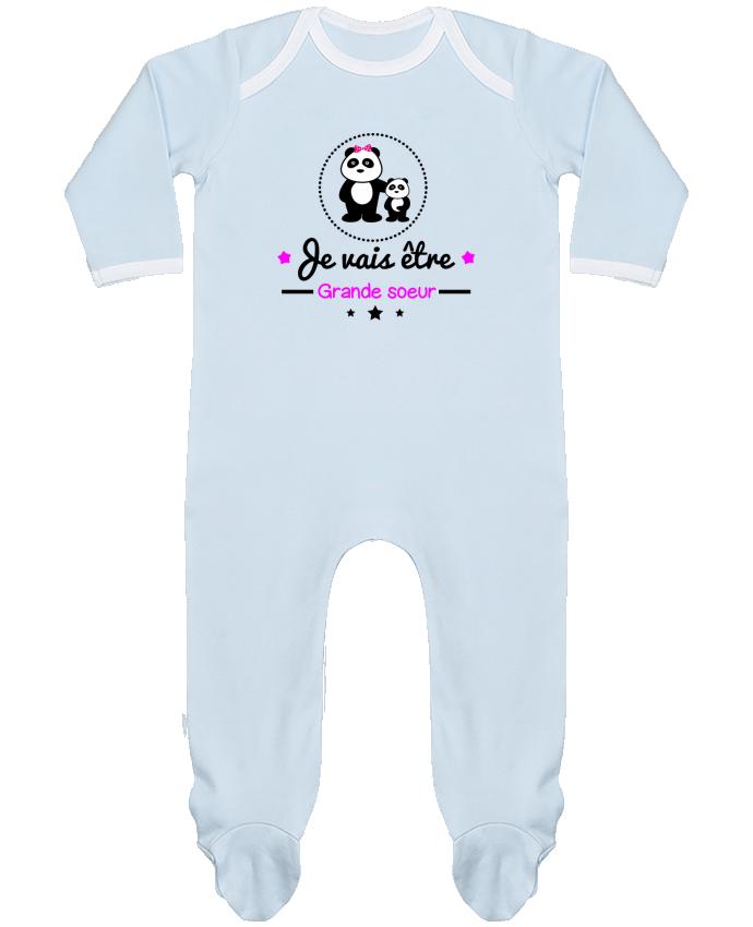 Pyjama Bébé Manches Longues Contrasté Bientôt Grande Soeur Future