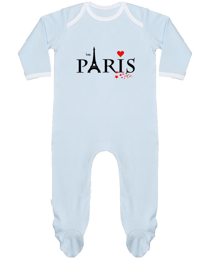 Pyjama Bébé Manches Longues Contrasté Paris love par Dream Design