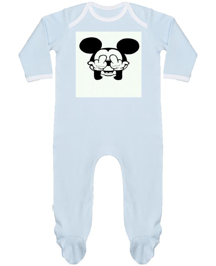 Pyjama Bébé Manches Longues Contrasté Vetement mickey doigt d'honneur par Designer_TUNETOO