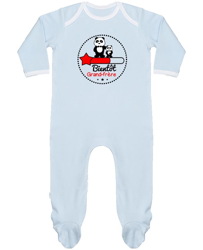 Pyjama Bébé Manches Longues Contrasté Bientôt grand-frère , futur grand frère par Benichan