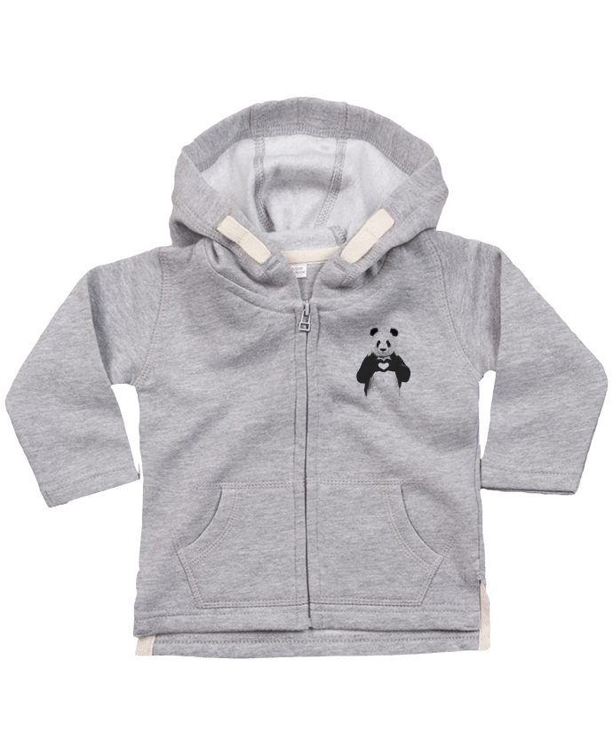 Sweat Bébé Zippé à Capuche All you need is love par Balàzs Solti