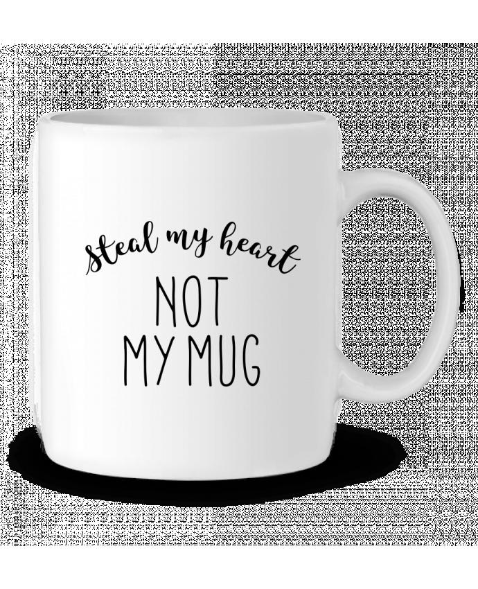 Mug en Céramique Steal my heart lettres par RachelHdd