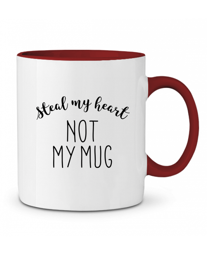 Mug en Céramique Bicolore Steal my heart lettres RachelHdd