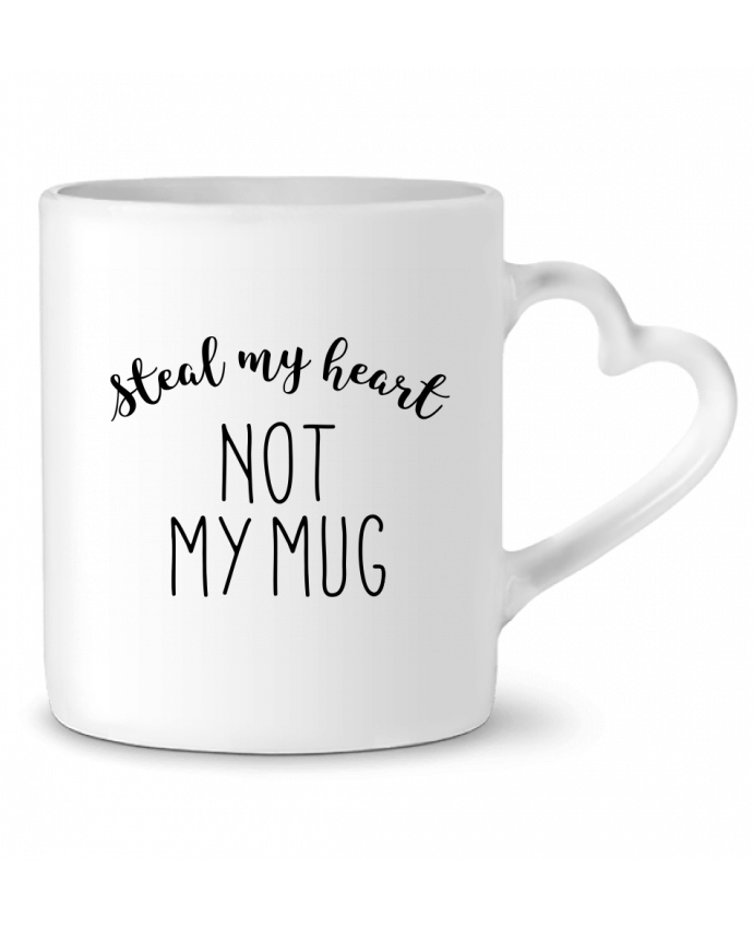 Mug Coeur Steal my heart lettres par RachelHdd