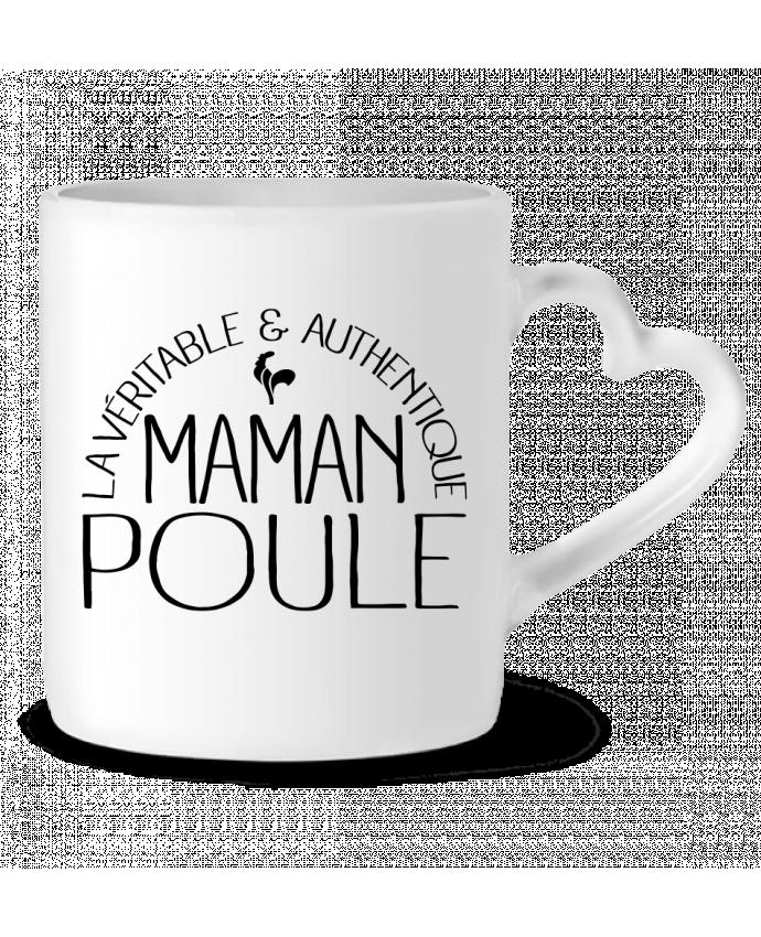 Mug Coeur Maman Poule par Freeyourshirt.com