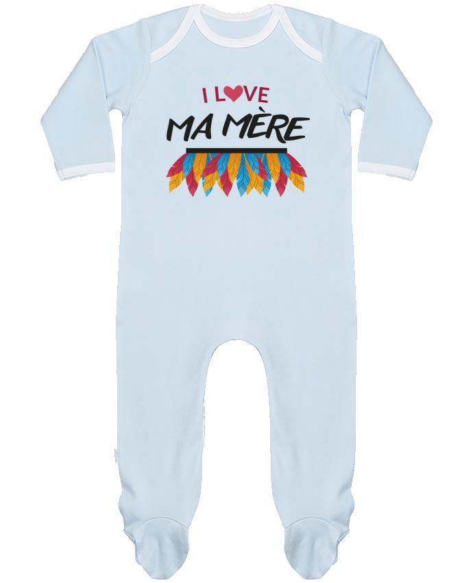 Pyjama Bébé Manches Longues Contrasté LOVE MAMAN par IDÉ'IN