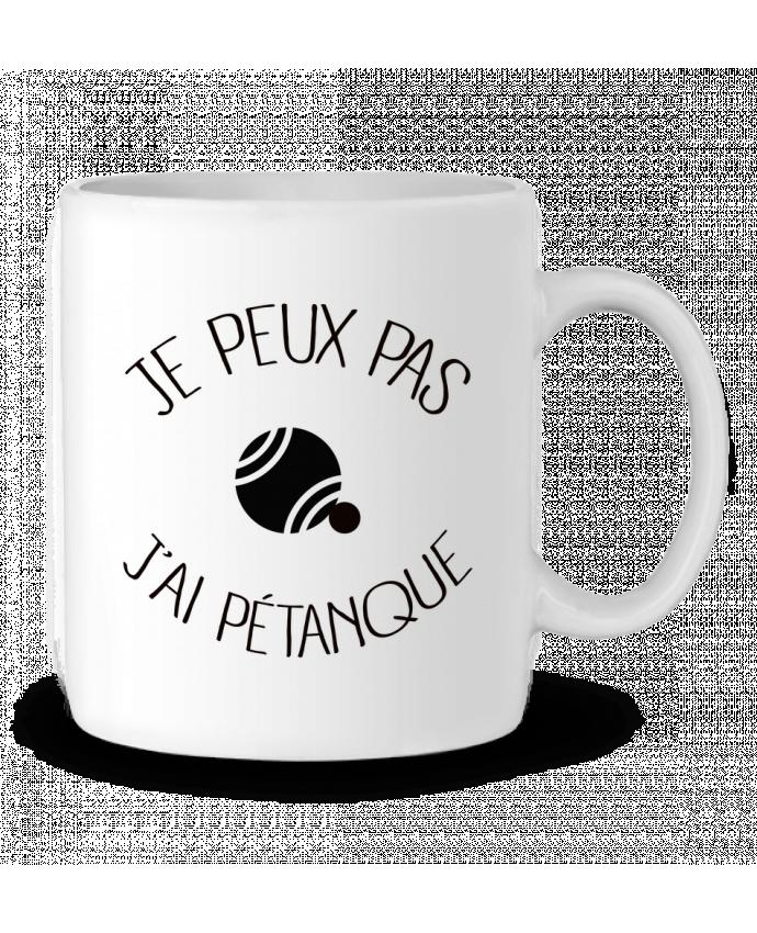 Mug en Céramique Je peux pas j'ai Pétanque par Freeyourshirt.com