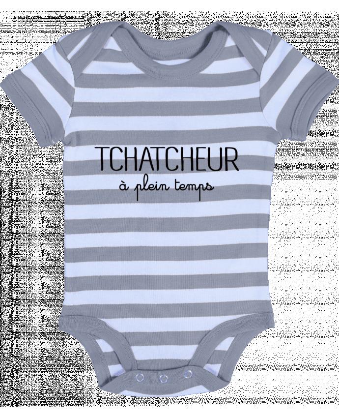 Body Bébé à Rayures Thatcheur à plein temps - Freeyourshirt.com