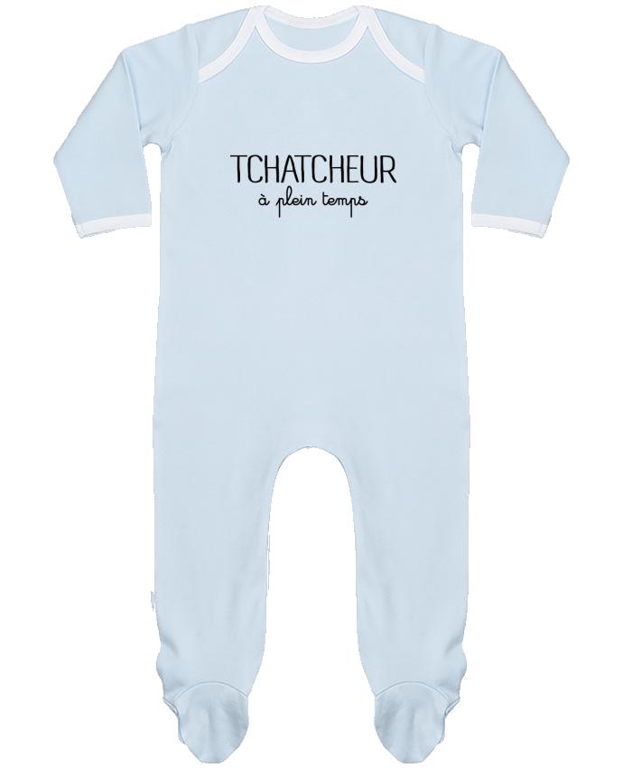 Pyjama Bébé Manches Longues Contrasté Thatcheur à plein temps par Freeyourshirt.com