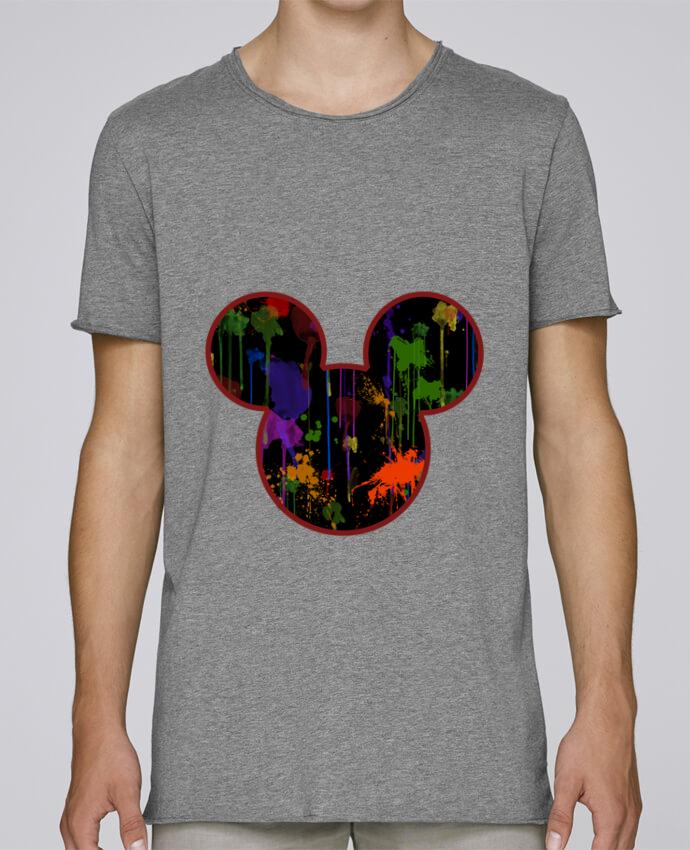 T-shirt Homme Oversized Stanley Skates Tete de Mickey version noir par Tasca