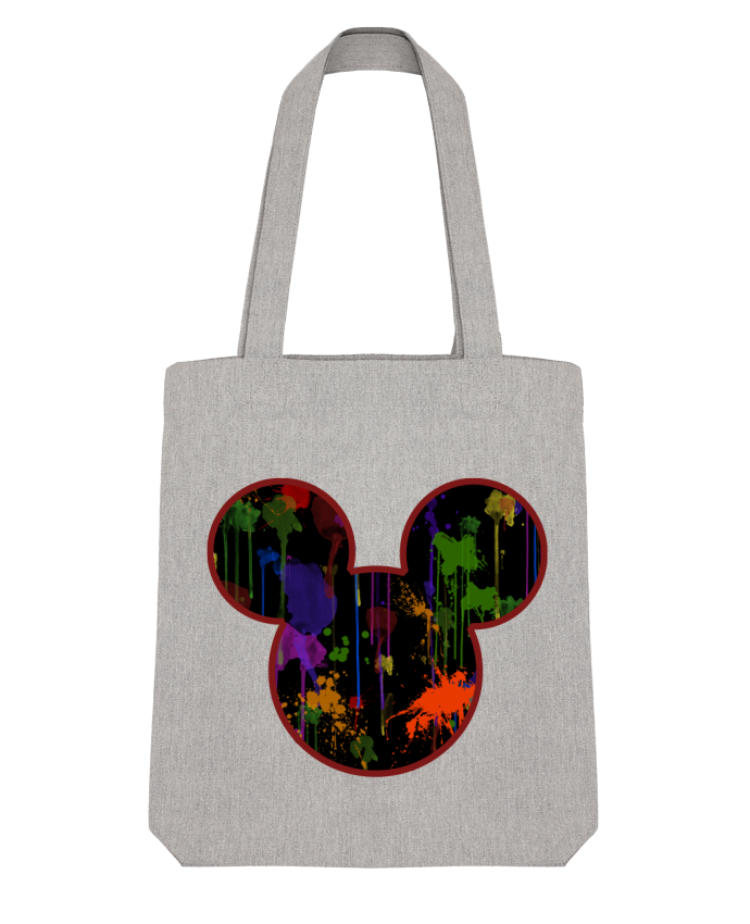 Tote Bag Stanley Stella Tete de Mickey version noir par Tasca