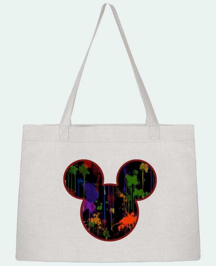 Sac Cabas Shopping Stanley Stella Tete de Mickey version noir par Tasca