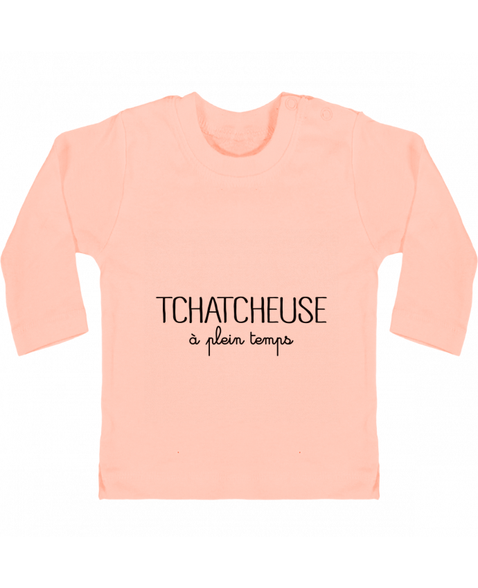 T-shirt Bébé Manches Longues Boutons Pression Tchatcheuse à plein temps manches longues du designer Freeyourshirt.com