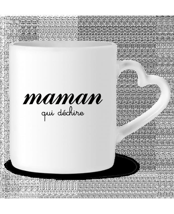 Mug Coeur Maman qui déchire par Freeyourshirt.com