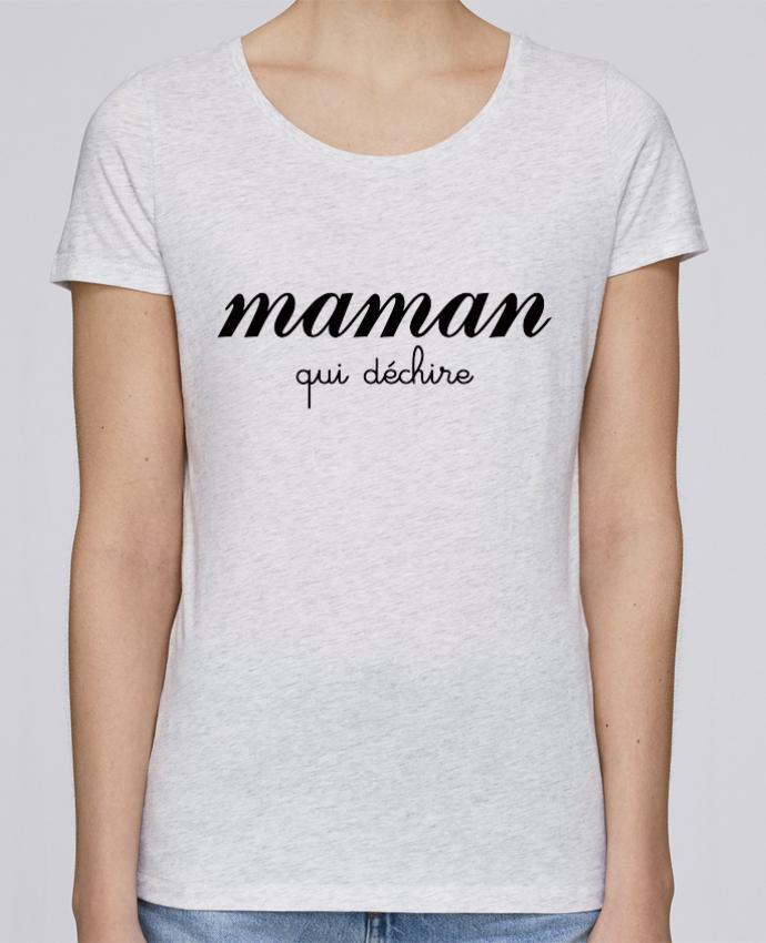 T-shirt Femme Stella Loves Maman qui déchire par Freeyourshirt.com
