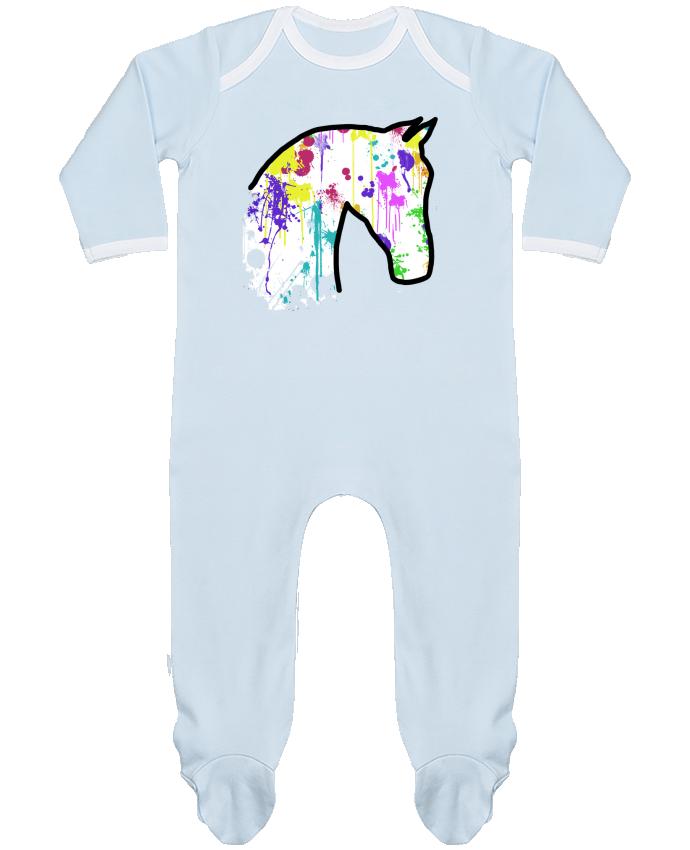 Pyjama Bébé Manches Longues Contrasté Cheval éclaboussures par Tasca