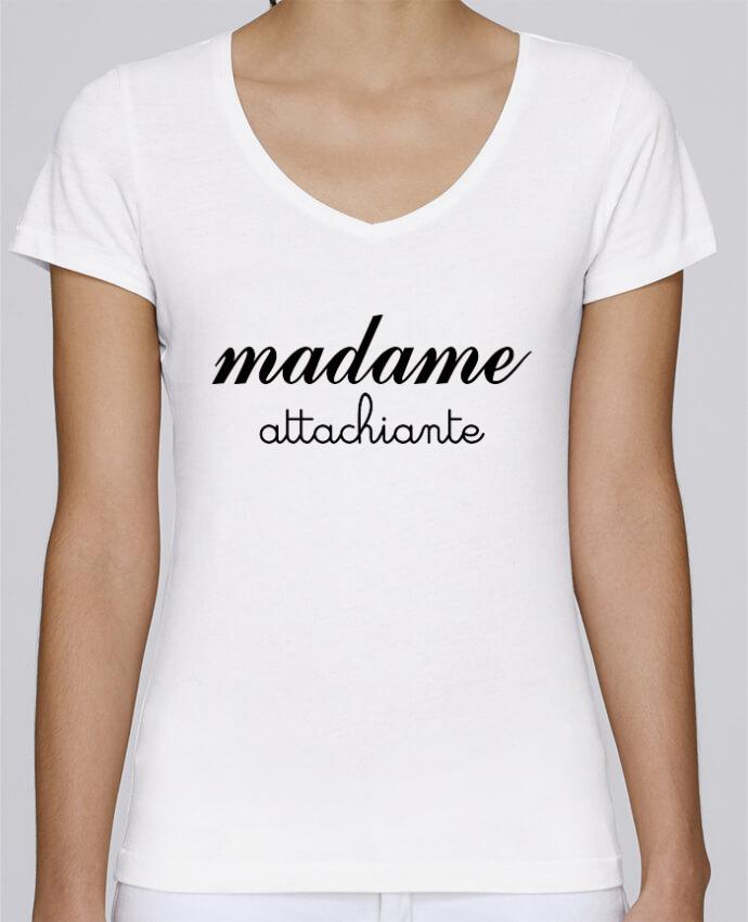 T-shirt Femme Col V Stella Chooses Madame Attachiante par Freeyourshirt.com