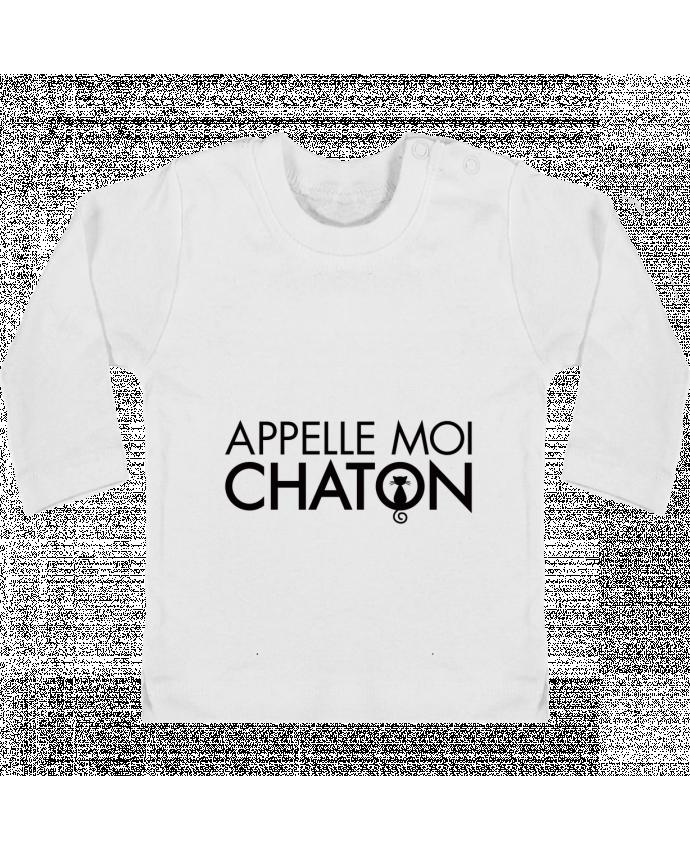T-shirt Bébé Manches Longues Boutons Pression Appelle moi Chaton manches longues du designer Freeyourshirt.com