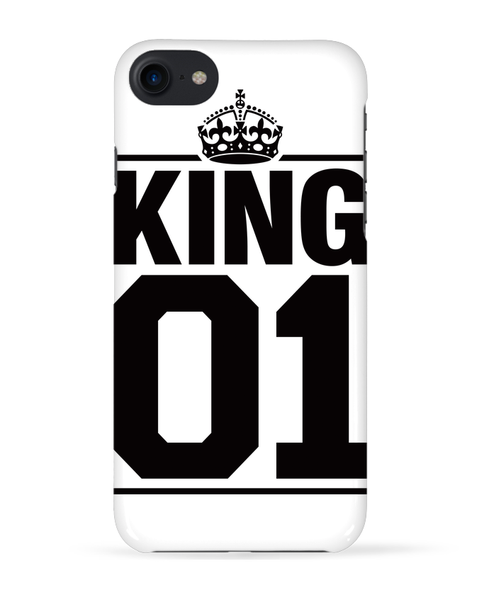 1170122 coque 3d iphone 7 blanc king 01 by freeyourshirt com