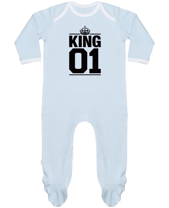 Pyjama Bébé Manches Longues Contrasté King 01 par Freeyourshirt.com