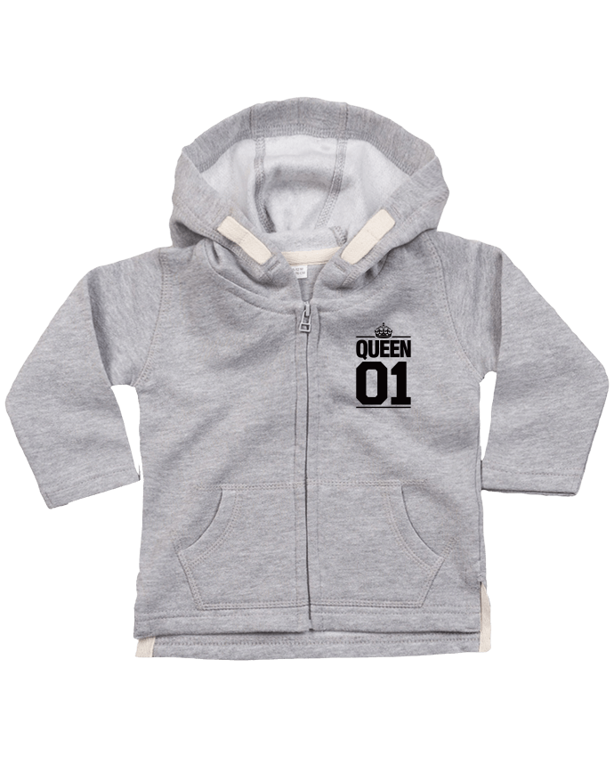 Sweat Bébé Zippé à Capuche Queen 01 par Freeyourshirt.com