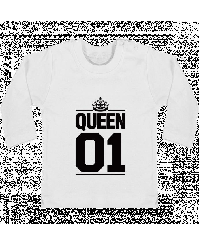 T-shirt bébé Queen 01 manches longues du designer Freeyourshirt.com