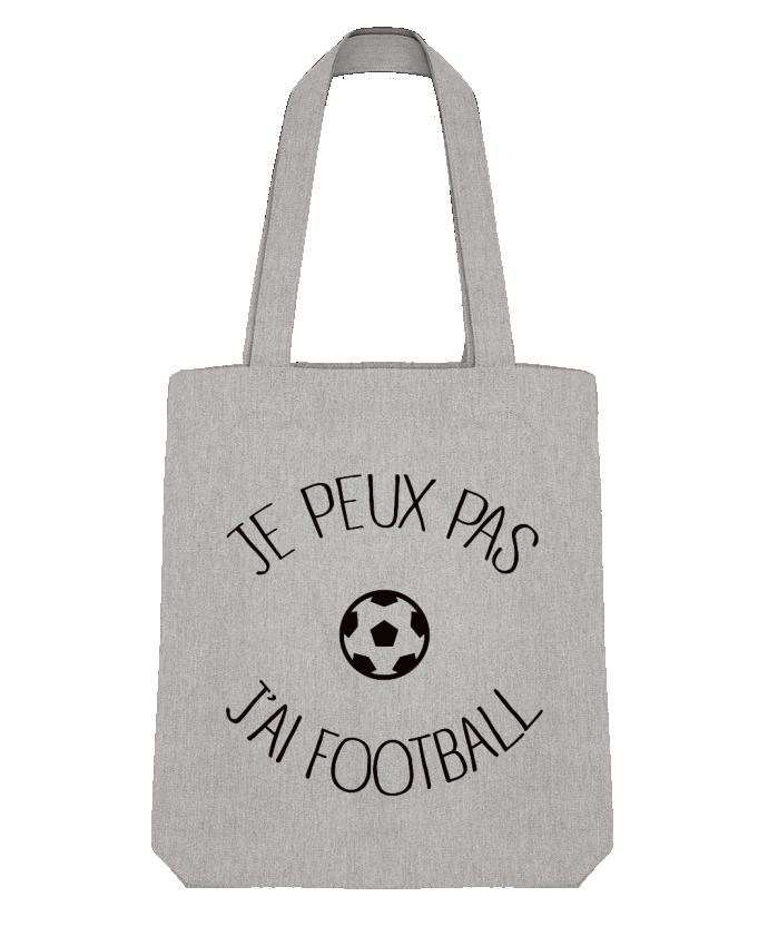 Tote Bag Stanley Stella Je peux pas j'ai Football par Freeyourshirt.com
