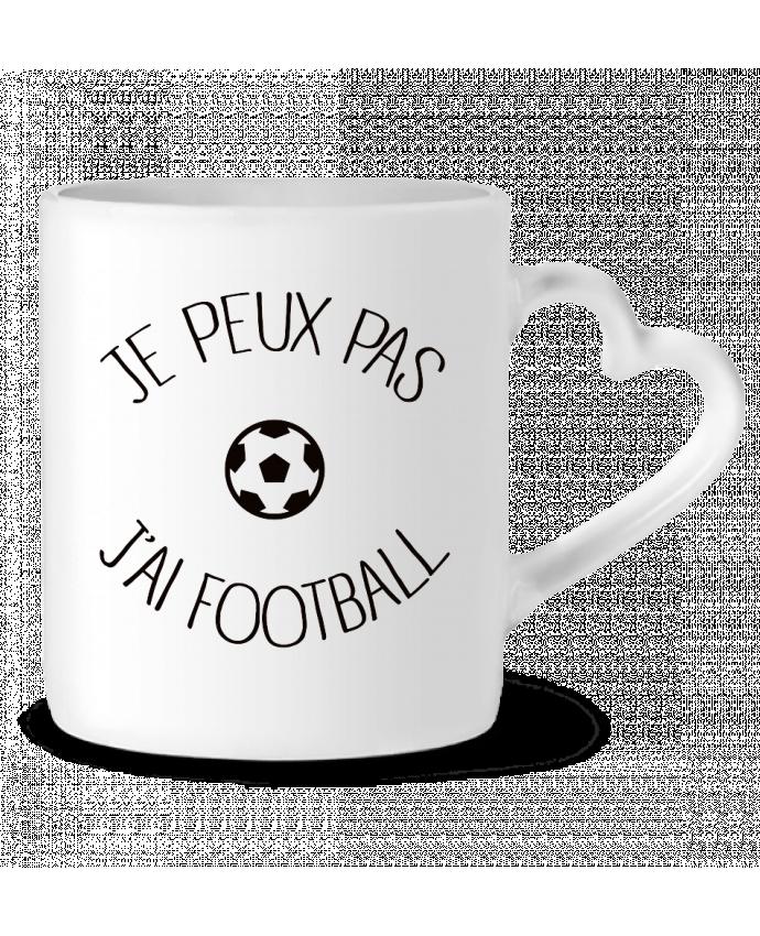 Mug Coeur Je peux pas j'ai Football par Freeyourshirt.com