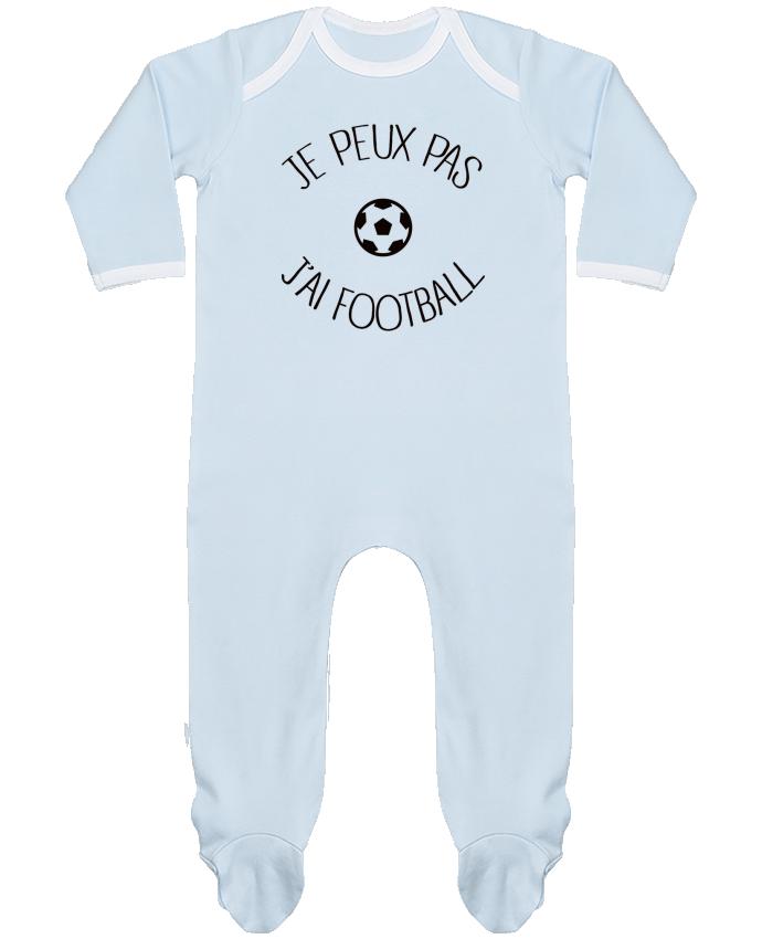 Pyjama Bébé Manches Longues Contrasté Je peux pas j'ai Football par Freeyourshirt.com
