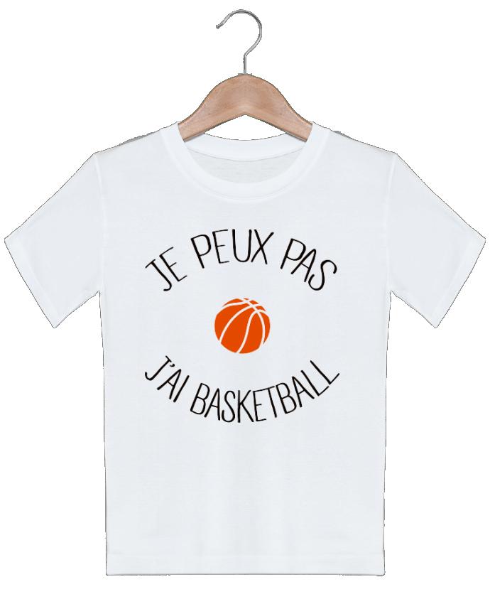 T-shirt garçon motif je peux pas j'ai Basketball Freeyourshirt.com