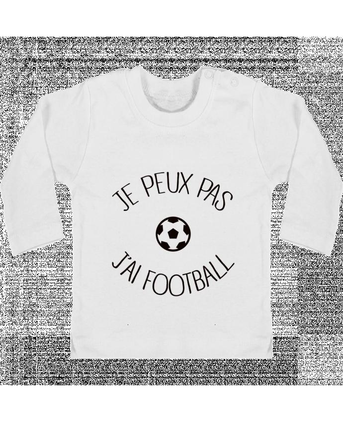 T-shirt Bébé Manches Longues Boutons Pression Je peux pas j'ai Football manches longues du designer Freeyourshirt.com