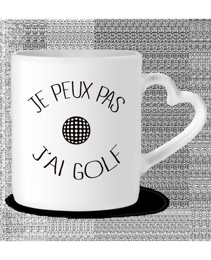 Mug Coeur Je peux pas j'ai golf par Freeyourshirt.com