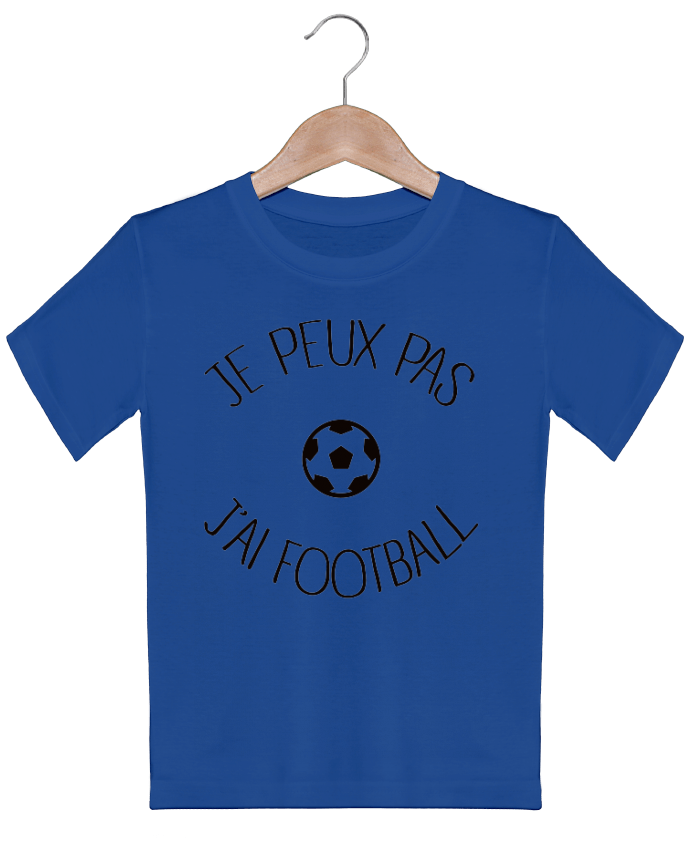 T-shirt garçon motif Je peux pas j'ai Football Freeyourshirt.com