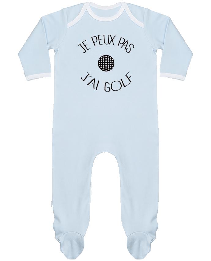 Pyjama Bébé Manches Longues Contrasté Je peux pas j'ai golf par Freeyourshirt.com