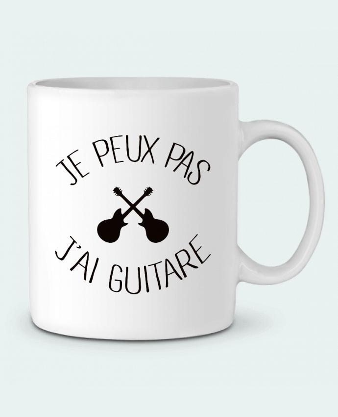 Mug en Céramique Je peux pas j'ai guitare par Freeyourshirt.com