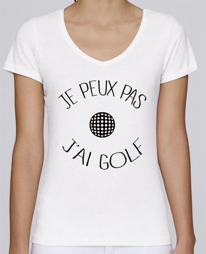 T-shirt Femme Col V Stella Chooses Je peux pas j'ai golf par Freeyourshirt.com