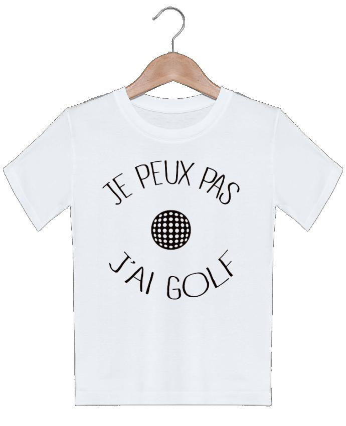 T-shirt garçon motif Je peux pas j'ai golf Freeyourshirt.com